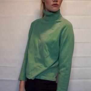 Classic Turtleneck Green Sweater